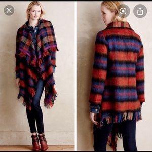 Anthropology blanket sweater coat